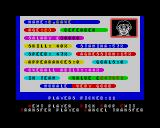 Jimmy's Super League ZX Spectrum Information of one of your players...evening Dave