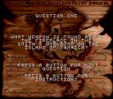 Cutthroat Island Genesis The first question of the sweepstakes