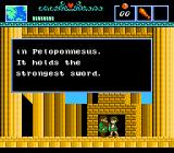 The Battle of Olympus NES You get hints from people you encounter in the game