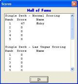 In the Round Windows The game's high score table opens in a new window that partially overwrites the game area