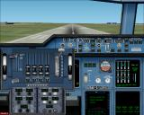 Fly the Airbus A380 Windows A380 throttle quadrant panel popup (lower left) in 2D view. (FS2k2)