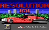 Hoverforce DOS Resolution 101: The title screen