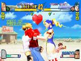 Rival Schools PlayStation Another Team Up Technique: Tiffany kisses Roy to make him recover health.