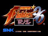 The King of Fighters '96 PlayStation Main menu.