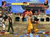 The King of Fighters '96 PlayStation Chang is attacking Mai.