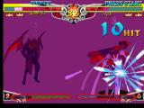 Darkstalkers 3 PlayStation Poor Hsien-Ko, she is being attacked by Jedah creating a monster combo.