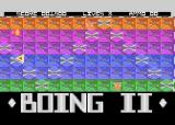 Boing II Atari 8-bit Background hides the enemies
