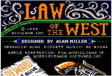 Law of the West Apple II Title screen