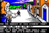 Law of the West Apple II The first character you'll meet in the game