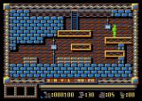 Spy Master Atari 8-bit X:8 Y:1 shows the spy position on the map