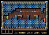 Spy Master Atari 8-bit Long standing spy cleans his hands