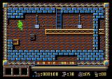 Spy Master Atari 8-bit Jump from the platform
