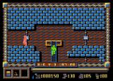 Spy Master Atari 8-bit Climbing the ladder