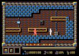 Spy Master Atari 8-bit Spy hit by enemy pistol