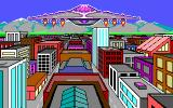 Alternate Reality: The City DOS From the intro - the Aliens appear over your city [EGA]