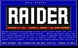 Wall $treet Raider DOS DOS Shareware release, version 4.0 (1993): Title screen