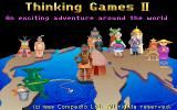 Thinking Games 2 DOS Main Title - Ever seen a green bat before?