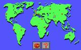 Thinking Games 2 DOS World Map - Travelling around the world for the jigsaw puzzle