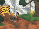 MTV's Beavis and Butt-Head in Virtual Stupidity Windows Road close due the trash slide