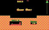 Hunchback DOS Room 2 - Wrong jump, game over. (cga)