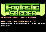 Fantastic Soccer Atari 8-bit Game settings
