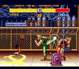 Street Fighter II': Special Champion Edition Genesis Guile kicks Guile