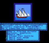 Sid Meier's Pirates! NES Pirate ship