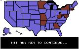 President Elect Commodore 64 The electoral map showing the final vote result.