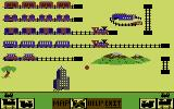 The Railroad Works Commodore 64 Starting a game on the map.