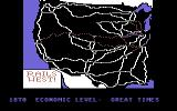 Rails West! Commodore 64 Map of the Western railroads.