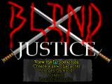 Blind Justice DOS The title screen