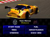 Test Drive: Le Mans PlayStation Pre-race Menu