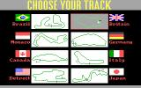 Grand Prix Circuit DOS Track Selection (EGA)