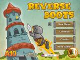 Reverse Boots Browser Reverse Boots, title screen and main menu