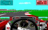 Grand Prix Circuit DOS In-Game Cornering Action (EGA)