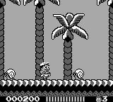 Adventure Island II Game Boy Big snails