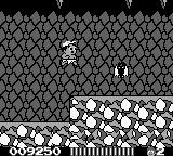 Adventure Island II Game Boy Bat in cave