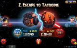 Angry Birds: Star Wars II Android Chapter selection screen.