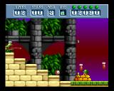 Putty Squad Amiga Where is Putty? Behind the shield, covering from falling grenades