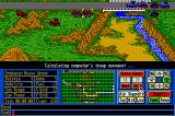 Operation Com●Bat: Computer Battle Game Amiga Trying to move as many units as possible across the bridge