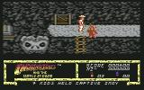 Indiana Jones and the Temple of Doom Commodore 64 Whipped one guard