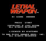 Lethal Weapon NES Title