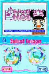 Rhythm 'n Notes: Improve Your Music Skills Nintendo DS Mode selection