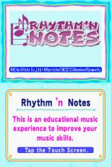 Rhythm 'n Notes: Improve Your Music Skills Nintendo DS Title Screen