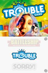 Battleship / Connect Four / Sorry! / Trouble Nintendo DS Trouble title screen