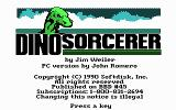 Dino-Sorcerer DOS Opening Screen