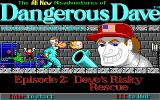 Dangerous Dave's Risky Rescue DOS Title Screen