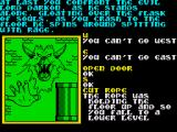 Souls of Darkon ZX Spectrum Upon falling to the lower level you are greeted by the evil Lord Darkon.