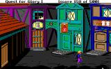 Hero's Quest: So You Want To Be A Hero DOS Since some adventures take place in the night, I started checking out how places look after nightfall: the street...