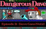 Dave Goes Nutz DOS Title Screen